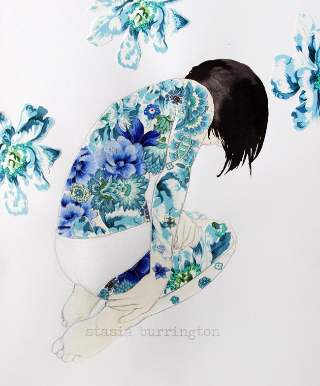 Blue Backpiece by Stasia Burrington