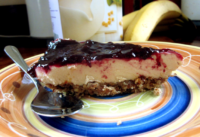 Rustic Lemon Boysenberry Cheesecake - ready to eat!