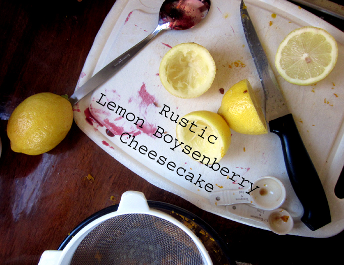 Rustic Lemon Boysenberry Cheesecake @ Kitchen Rebellion