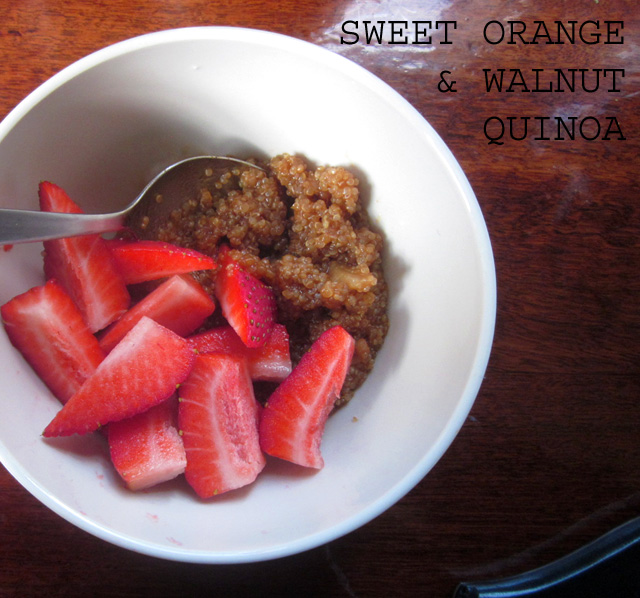 Kitchen Rebellion Vegan Sweet Orange Quinoa